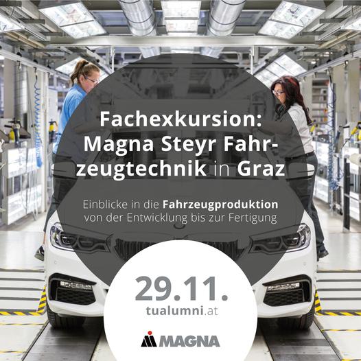 Fachexkurison zu Magna Steyr Fahrzeugtechnik in Graz