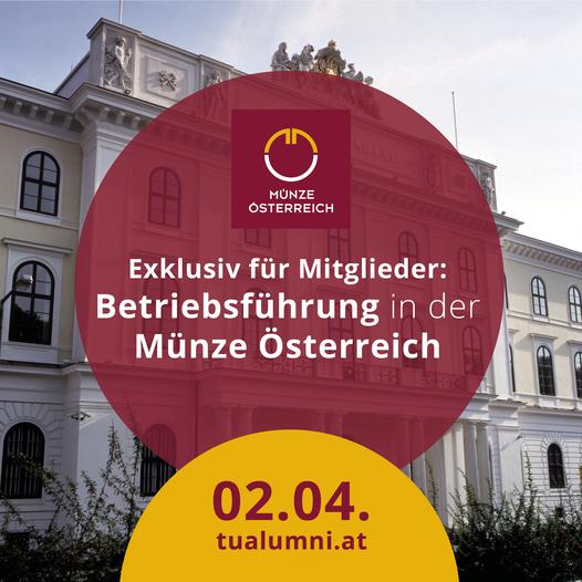 Exklusive Betriebsführung Münze Österreich