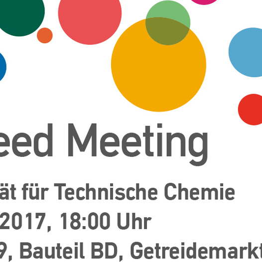 Speed Meeting der Fakultät für Technische Chemie