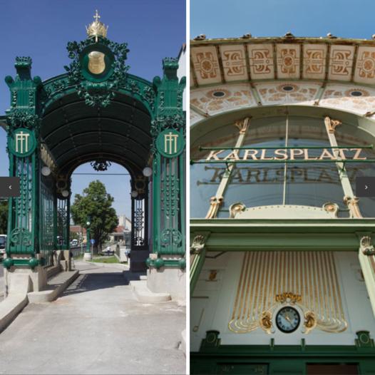 Vienna Design and Architecture | Art Nouveau Tour -2 Pavilions by Otto Wagner